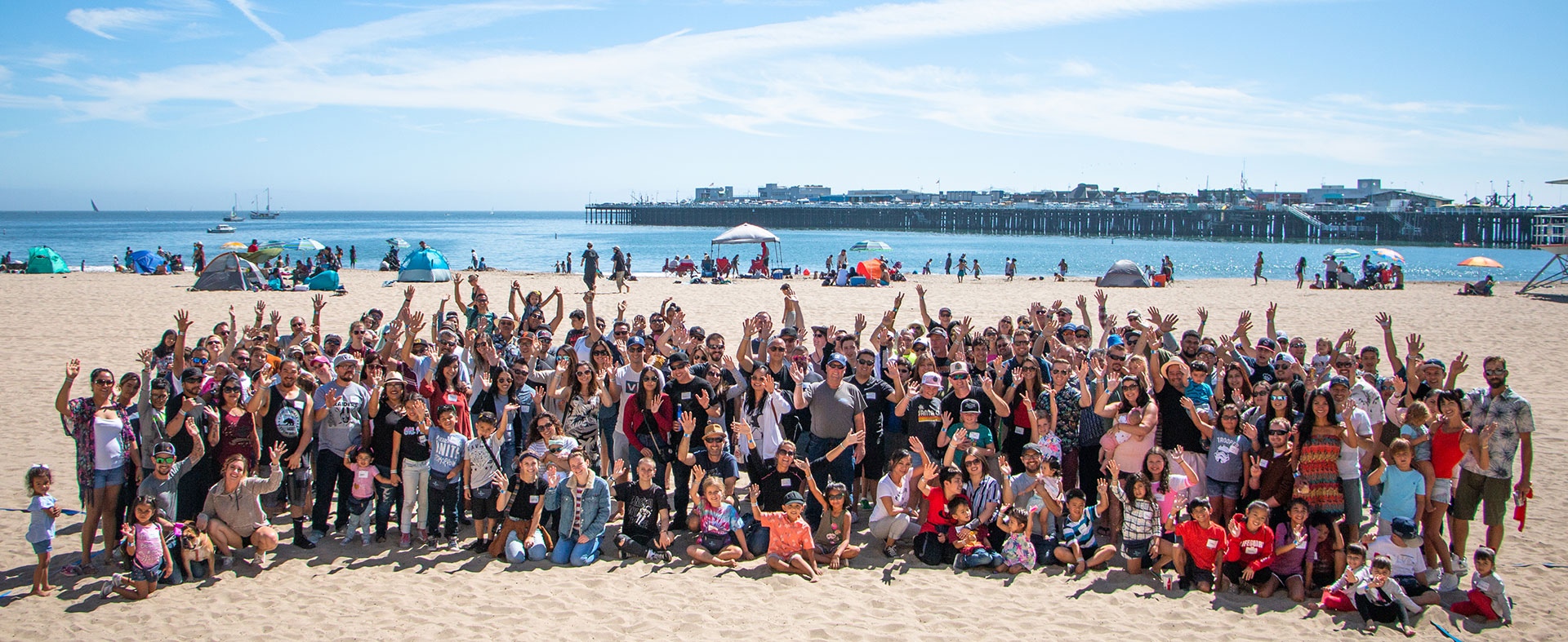 The SC Builders team at our summer picnic at the Santa Cruz Boardwalk.