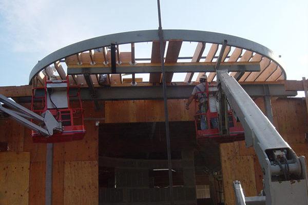 Construction on HQ: 910 Thompson.