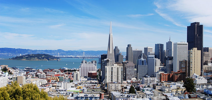 San Francisco skyline - our office is across the street from Transamerica Building