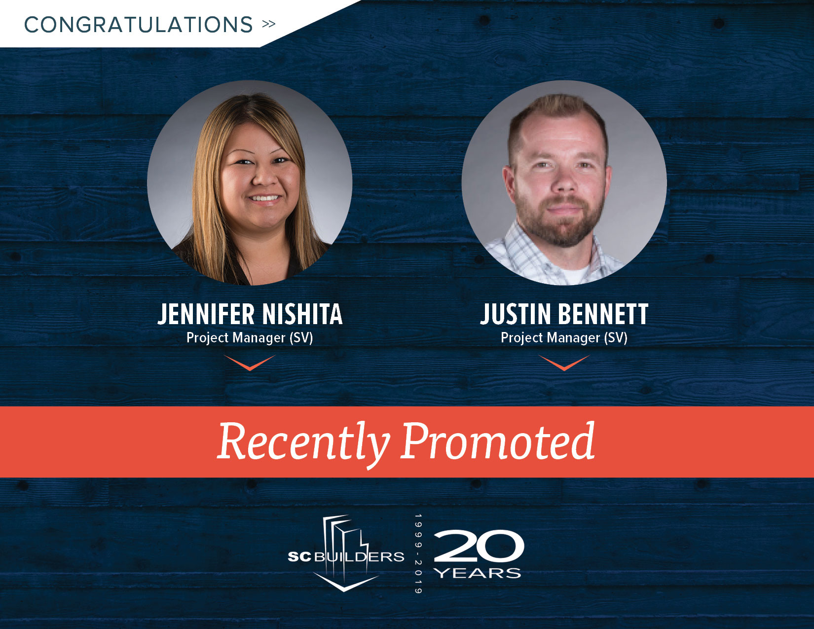 Jenn & Justin, Recently Promoted Graphic
